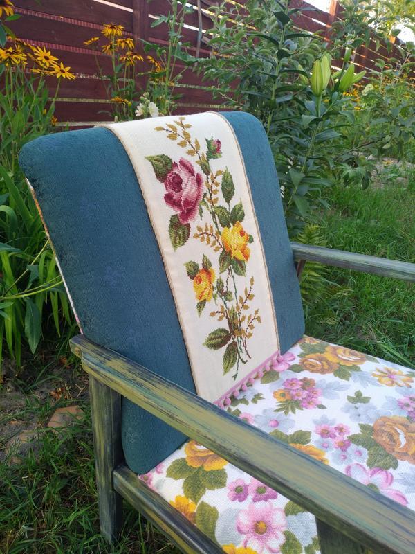 Кресло этно/бохо с украинской вышивкой