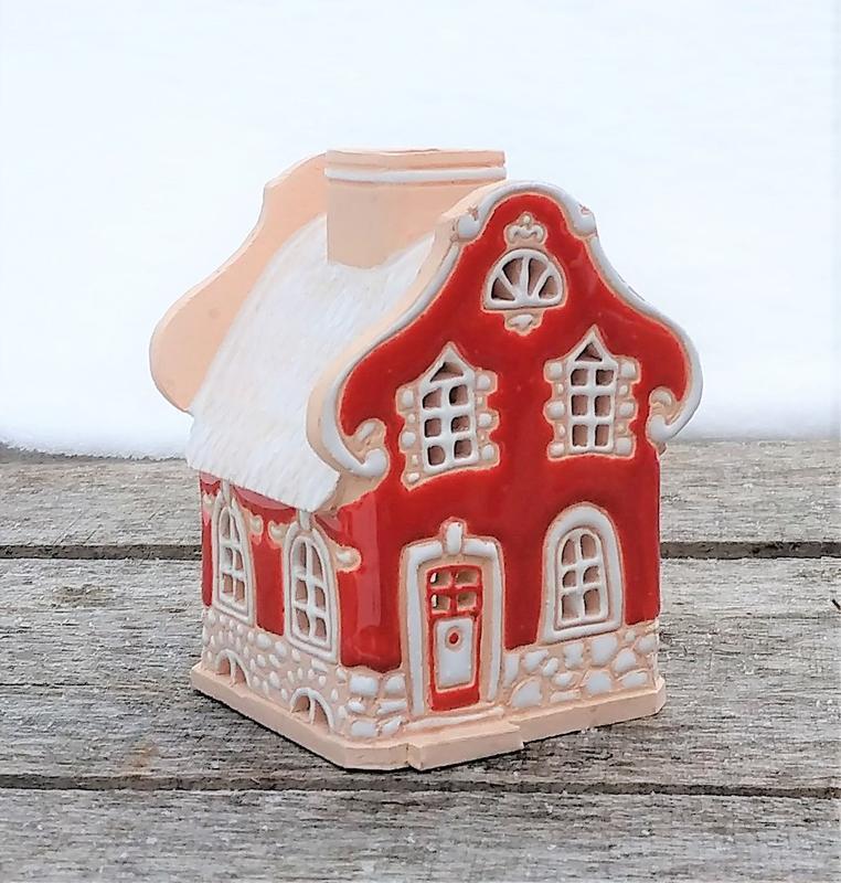 """Керамический домик-подсвечник """"Барокко маленький"""""""