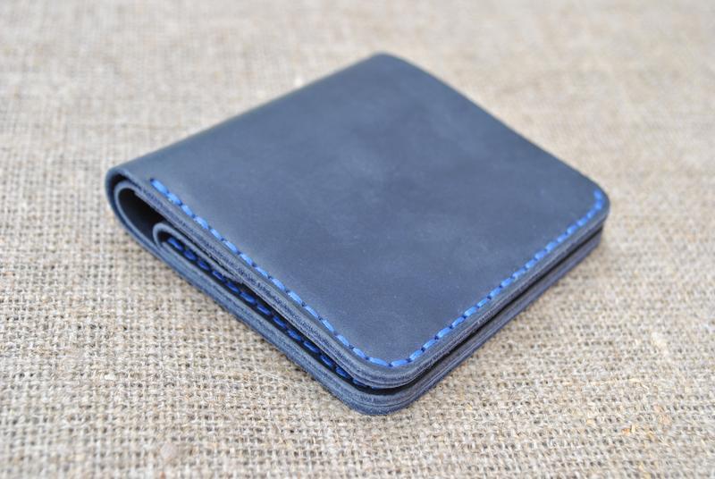 Темно-синий маленький кошелек K92-600+blue