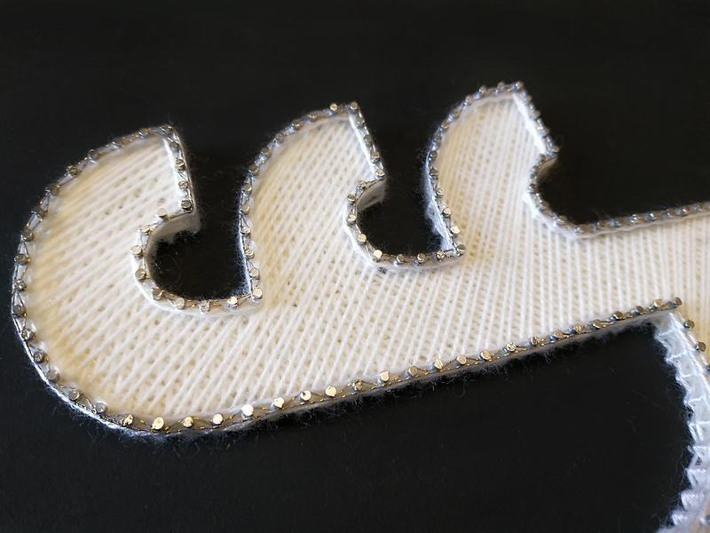 Логотип на заказ в технике string art