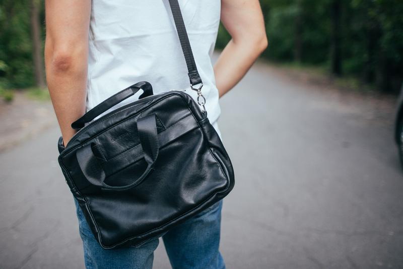 Мужская сумка для ноутбука, мессенджер из кожи, на каждый день