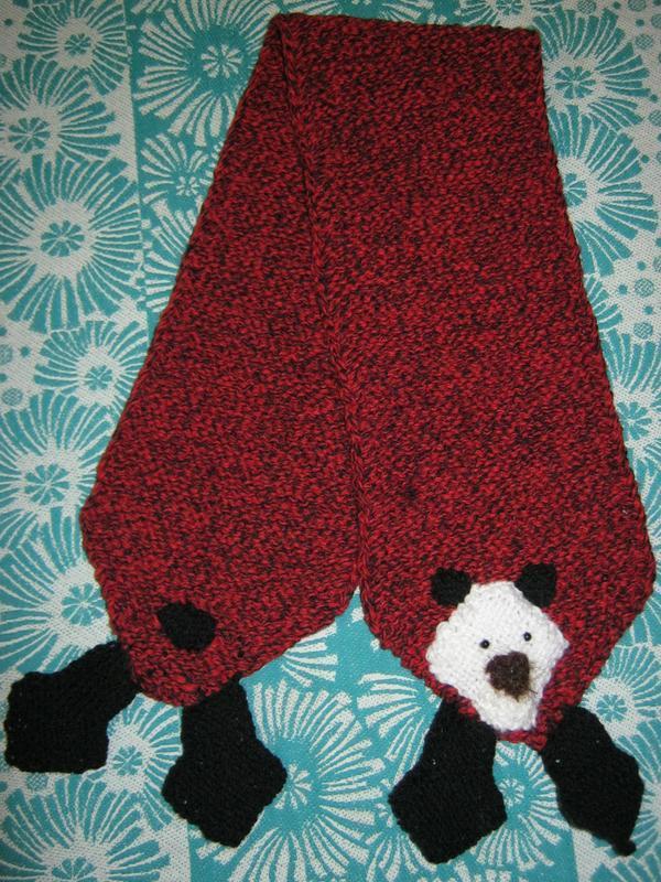 шарф вязанный детский