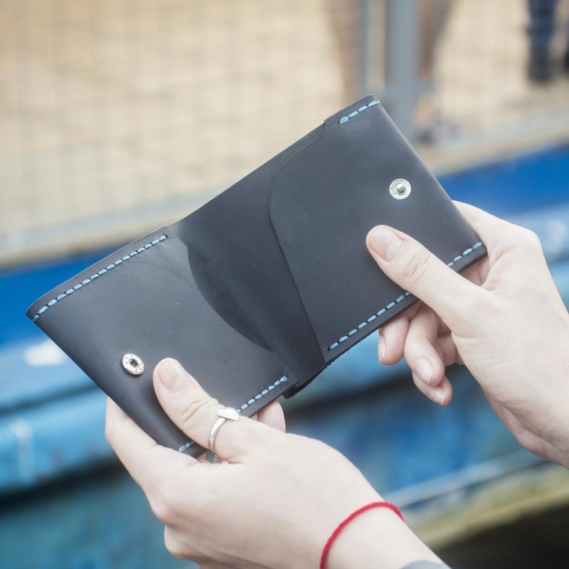Кошелёк Slim (Унисекс) - тонкий кошелёк для денег и карт ( Портмоне, Лопатник) + Подарок браслет
