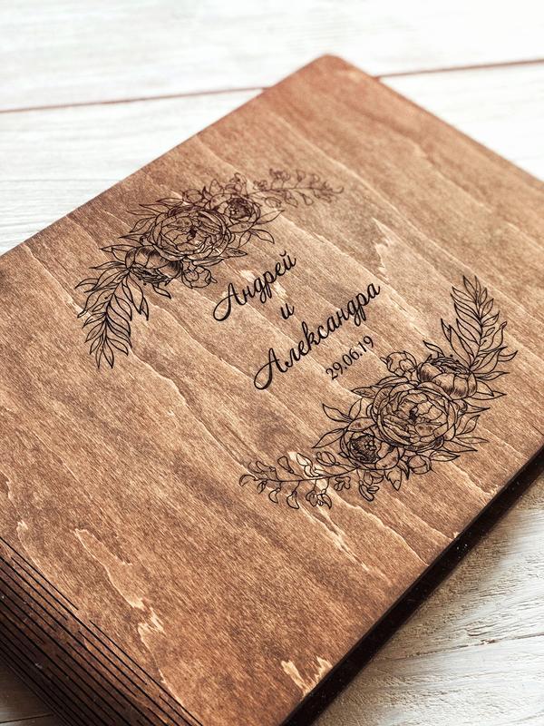 """Свадебный фотоальбом / Свадебная гостевая книга """"Pions"""""""