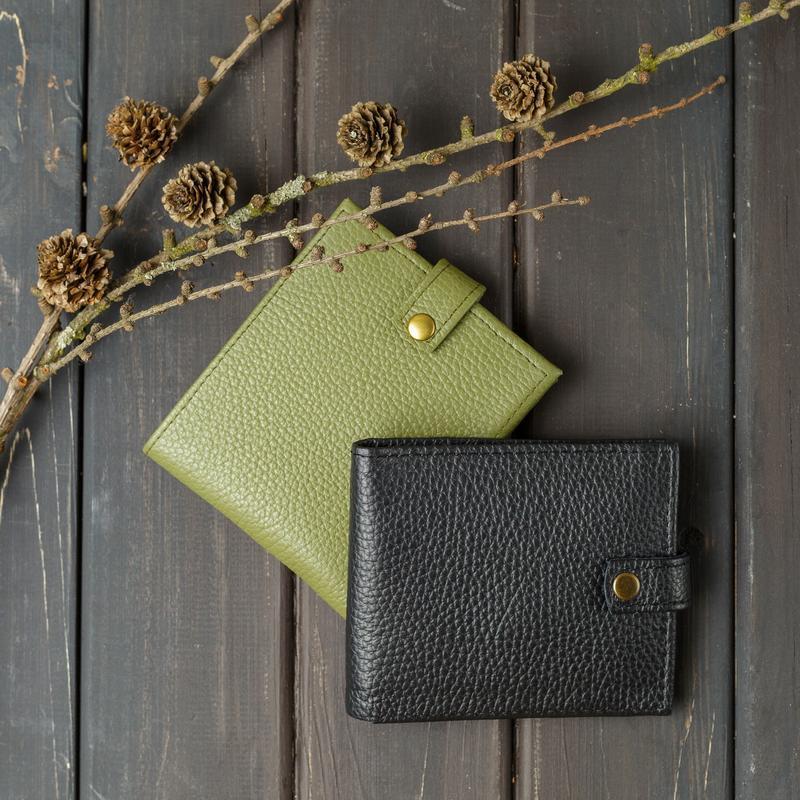 Кожаный маленький кошелек, Кошелек с монетницей, Бумажник кожаный