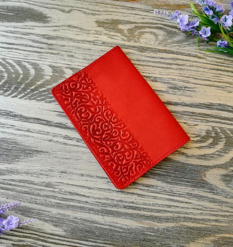 Обложка на паспорт морковные восточные узоры
