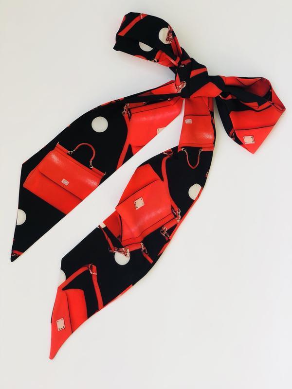 Стильный платок , галстук твилли , лента для волос