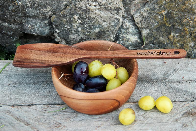 Лопатка Деревянная Кухонная Для Приготовления Продуктов Кухни Еды Пищи Из Дерева Ореха С Логотипом