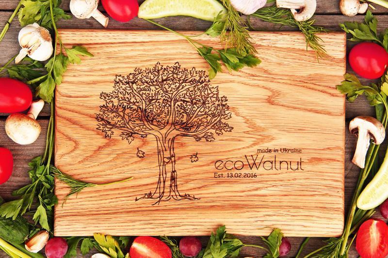 Доска Кухонная Деревянная Досточка Еды Нарезки Продуктов Из Дерева С Логотипом Дубовая Прямоугольная