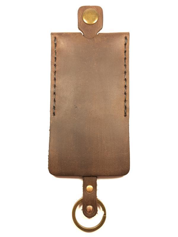 Чехол для ключей кожаный Goose™ Classic коричневый (ключница для ключей)