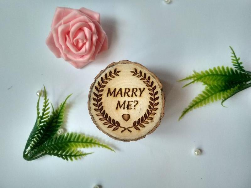 Свадебная шкатулка для обручальных колец. Шкатулка для помолвки. Коробочка для колец. Рустик