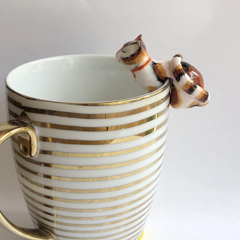 Держатель чайных пакетиков Трехцветный кот