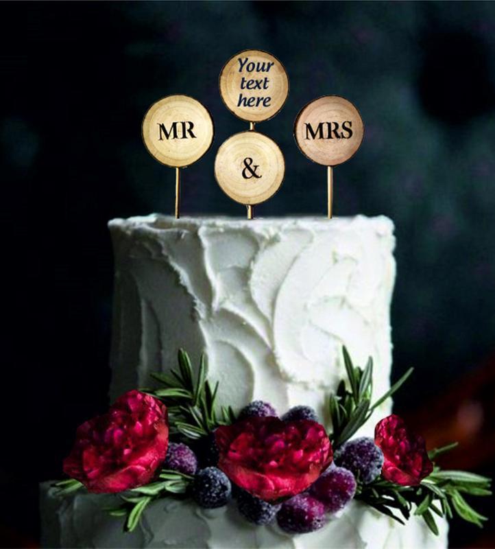 Топпер на свадебный торт / Топпер на свадьбу / Фигурки на торт / Украшение свадебного торта / Рустик