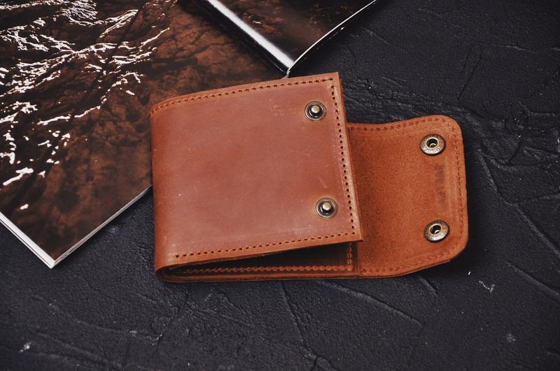 Кожаный кошелек Стив