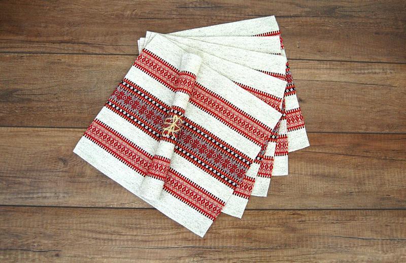 Подарочный набор салфеток в украинском стиле, 6 шт.