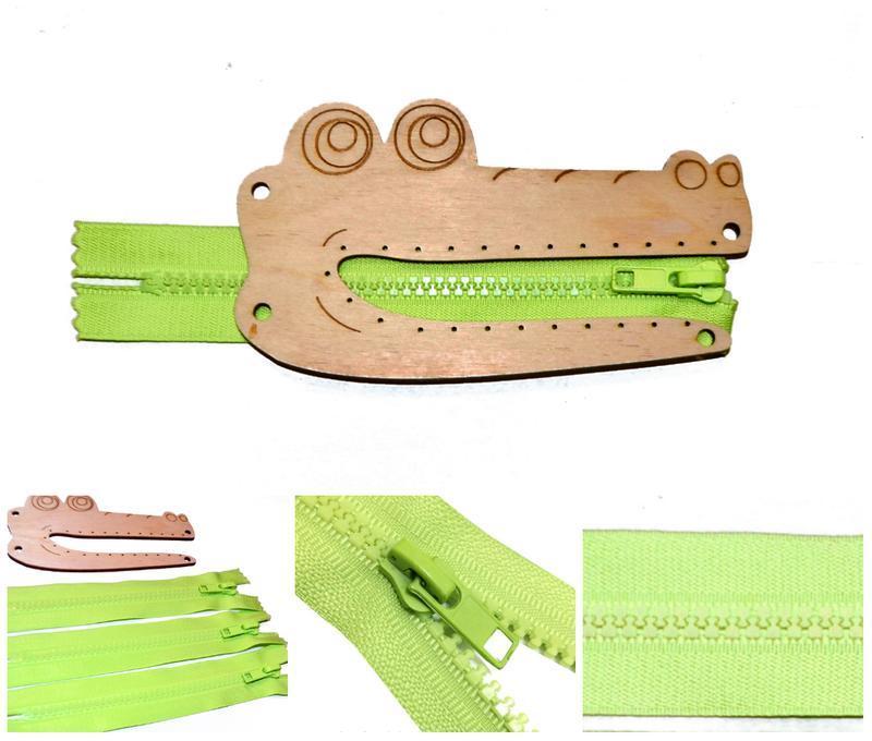 Заготовка Деревянный КРОКОДИЛЬЧИК 1шт (без молнии) для бизиборда Дерев'яний Крокодил для бізіборда