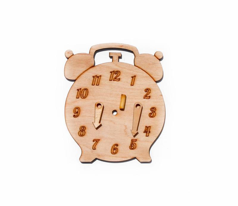 Заготовка Деревянные ЧАСЫ для бизиборда со Стрелками Дерев'яні годинники для бізіборда для бизи борд