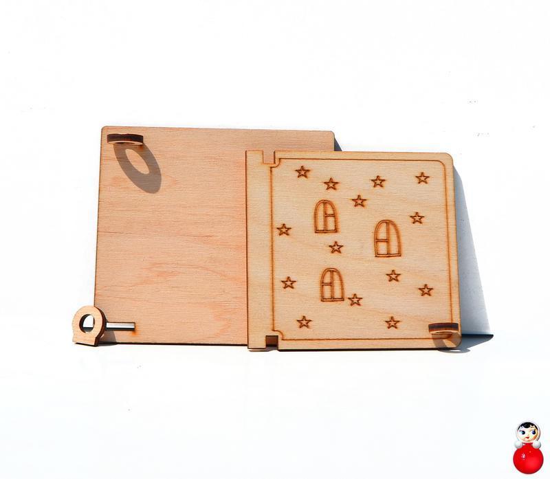 Заготовка Деревянная ДВЕРКА МАЛЕНЬКАЯ для бизиборда дверца открывается Дерев'яні двері для бізіборда