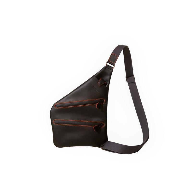 Шкіряна чоловіча сумка месенжер через плече з водовідштовхуючими блискавками