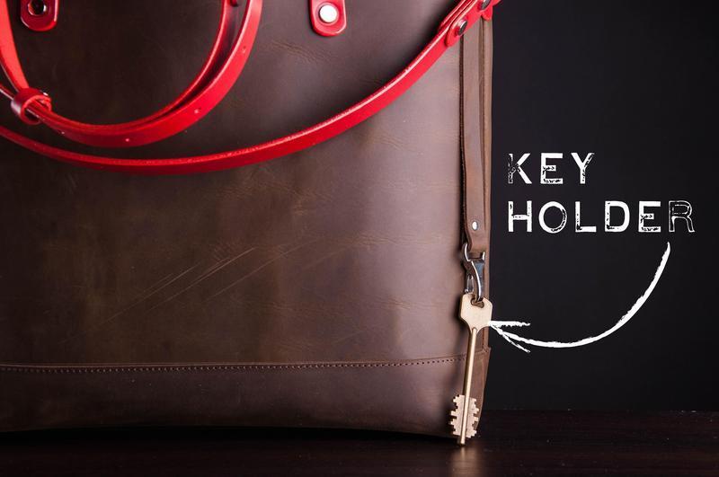 Кожаная сумка шоппер, женская сумка, женская сумка Tote bag на молнии | 1_0196_MG1