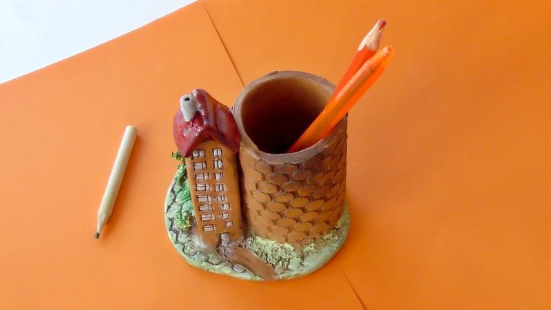 Карандашница керамическая ручной работы