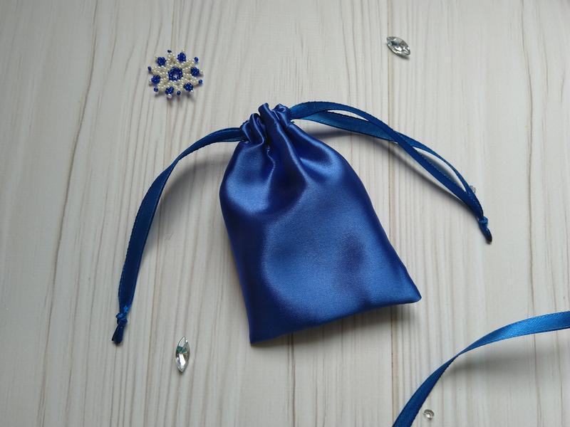 Упаковочный мешочек из атласа 8 х 12 см. (тканевая упаковка, атласные мешочки, подарочная упаковка)