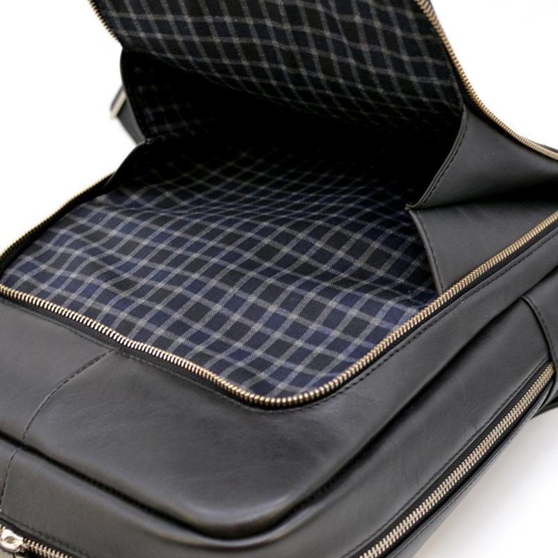 Кожаный стильный рюкзак для ноутбука TARWA TA-1239-4lx (унисекс)
