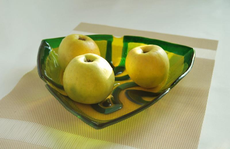 """Тарелка для фруктов """"Клевер"""", фьюзинг."""