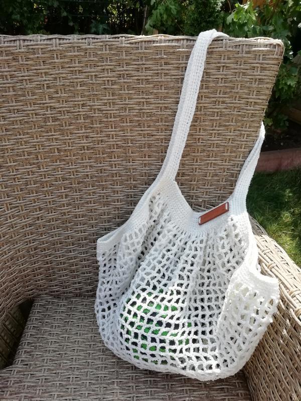 Вязаная сумка-авоська