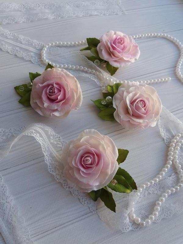 """Набір аксесуарів """"трояндова ніжність"""""""