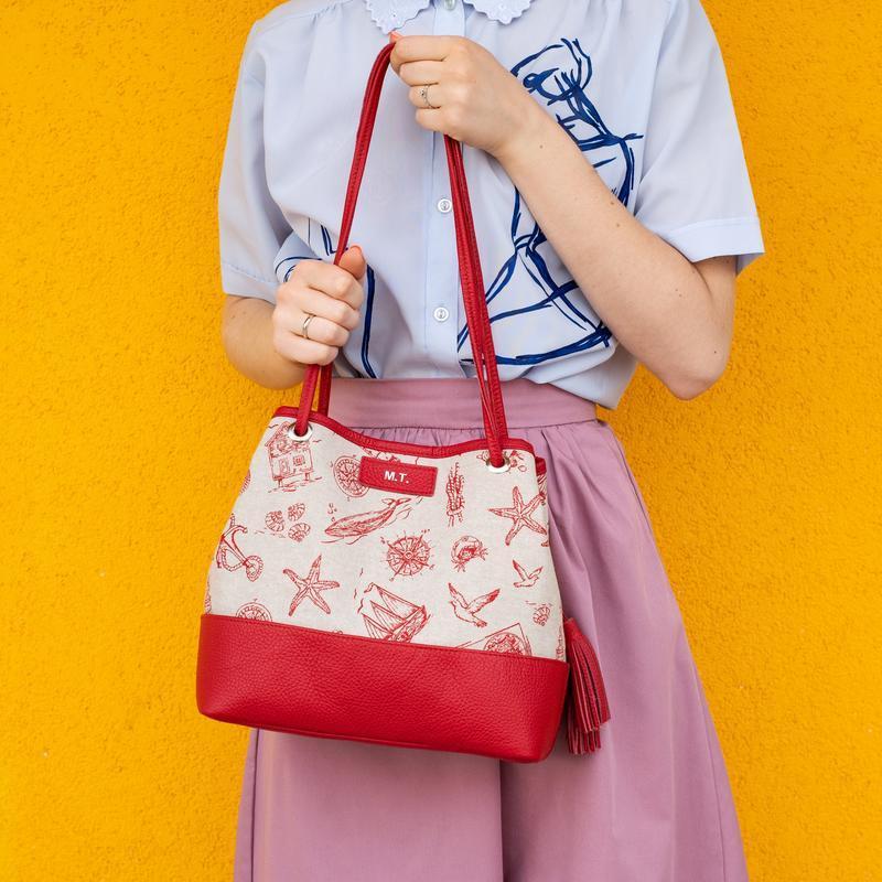 Женская сумка Лесли из итальянской кожи