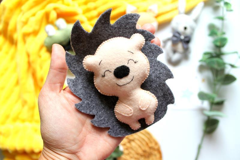 Игрушки из фетра Зверята Подарки детям Магнитики Сувениры