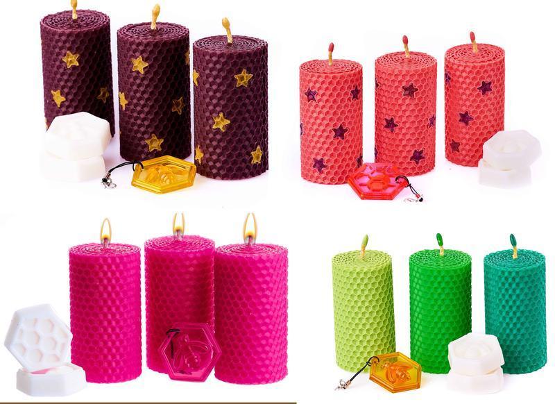 Свечи восковые. Свечи из пчелиного воска ручной работы.100 % натуральные свечи из вощины.