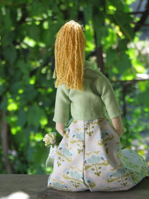 Кукла тильда, тильда,весна, цветок, текстильная кукла, кукла в штанах