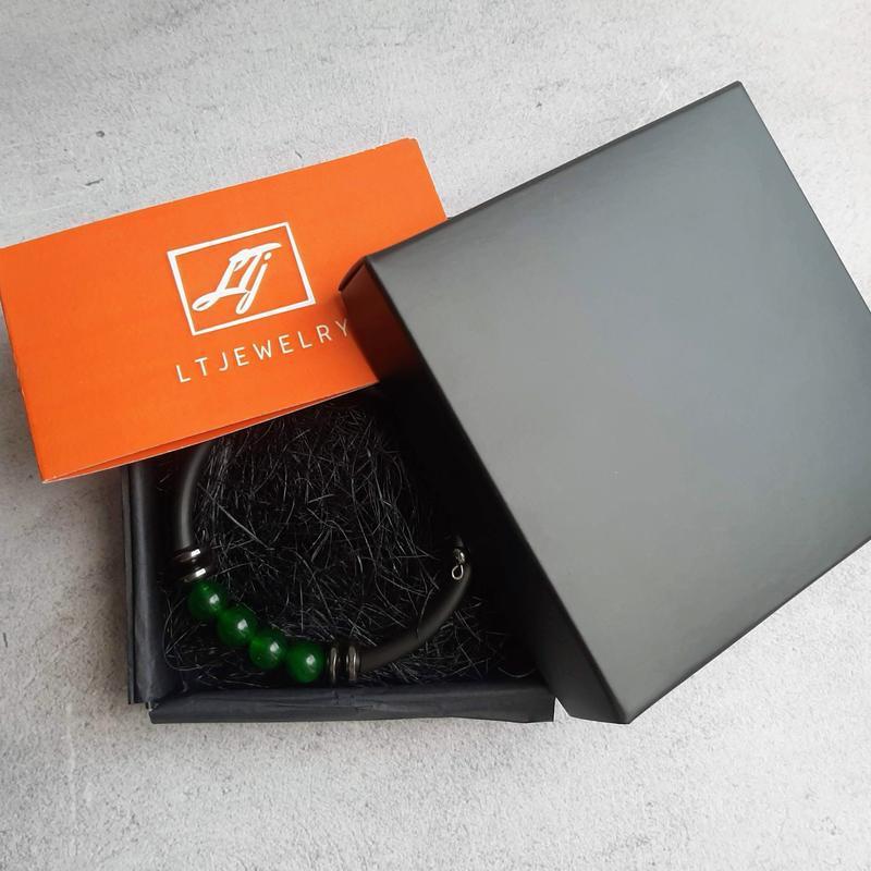 Браслет с зеленым хризопразом. Женский браслет. Подарок девушке.