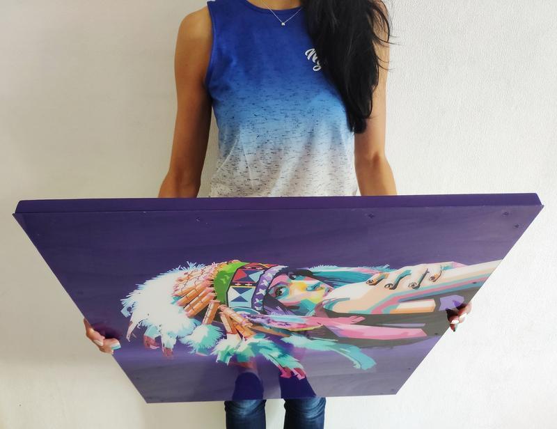 Картина індіанка