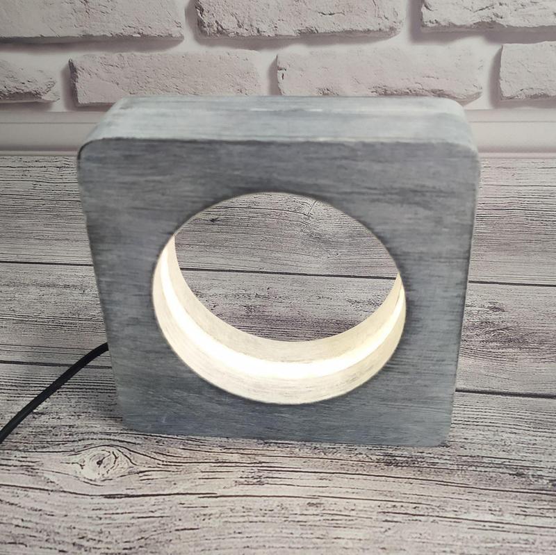 Деревянный светильник-ночник с плавной регулировкой яркости, возможно брендирование