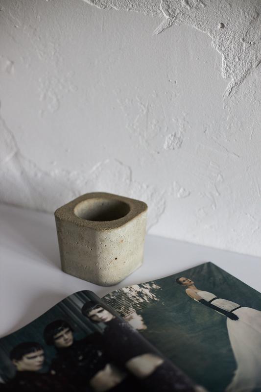Кашпо горшок лофт з бетону