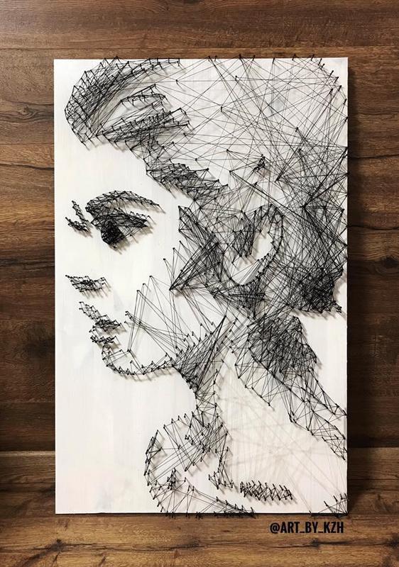 Портрет Лицо из гвоздей (Стринг АРТ)