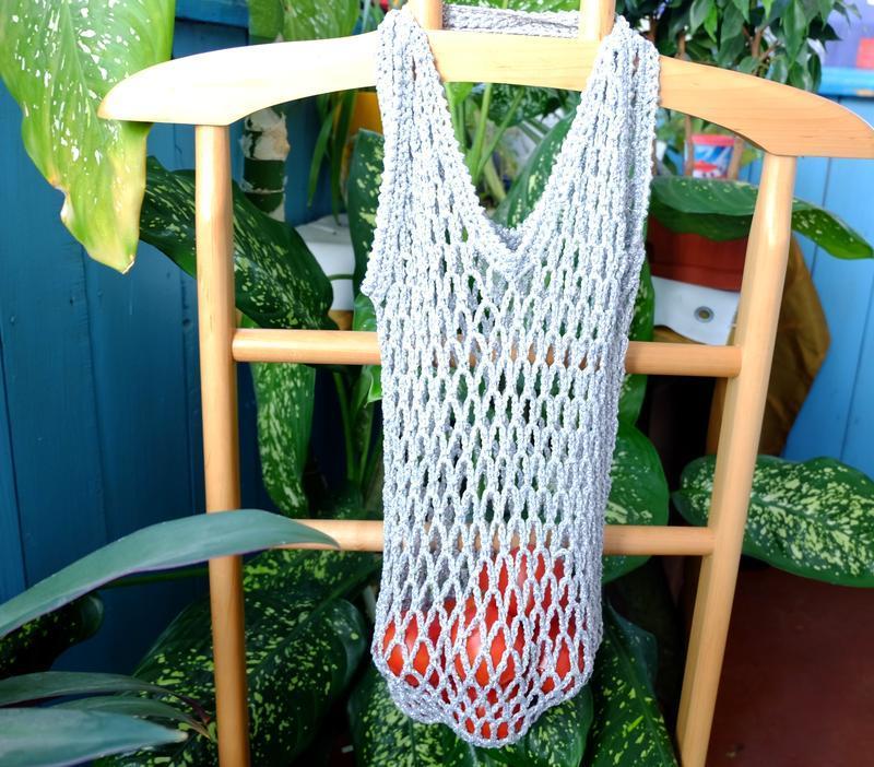 Сумка-авоська люрекс, эко-сумка, сетка, сумка для покупок 04