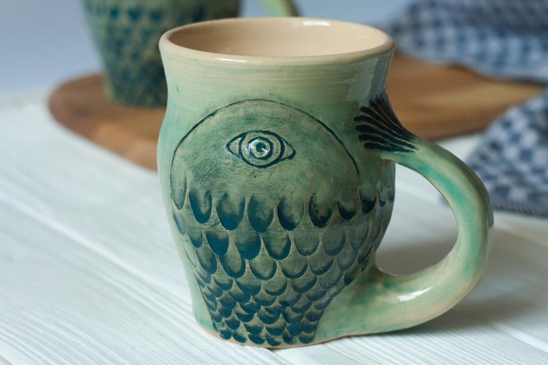 """Чашка """" Риба"""" 400мл"""