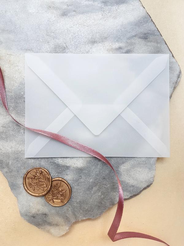 Прозрачный конверт из кальки 12х18 см