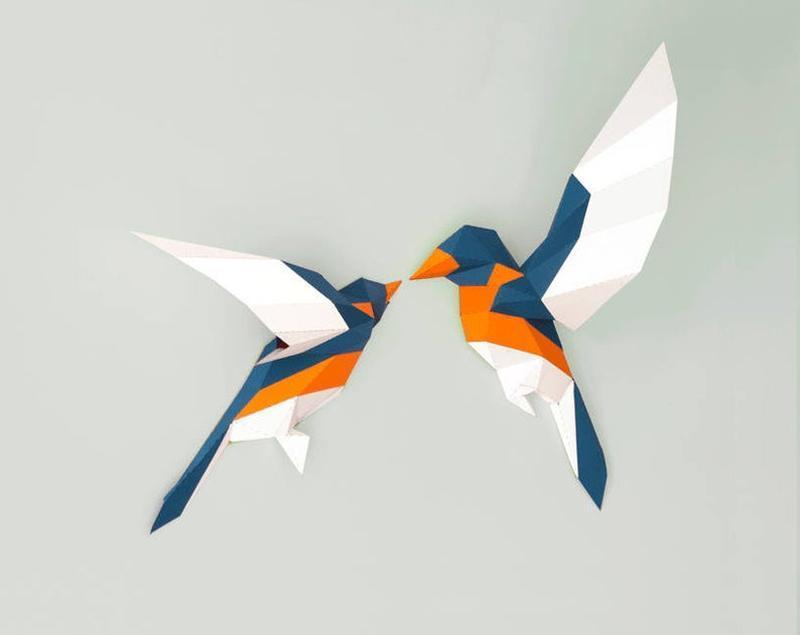 Интерьерная композиция Птицы