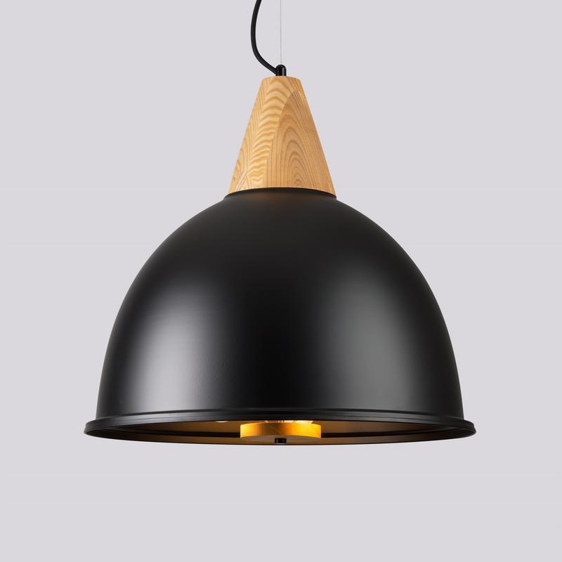 Большая черная люстра в стиле лофт
