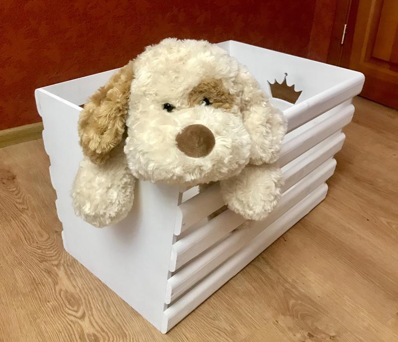 Ящик деревянный для игрушек