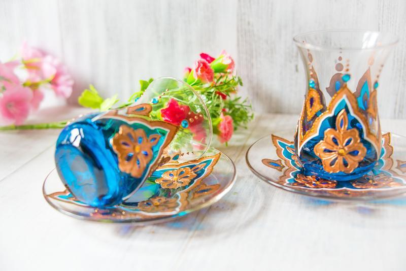 Чайная пара для турецкого чаепития - армуды ′Восточная сказка′