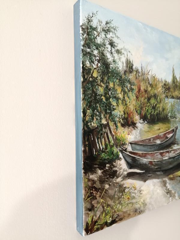 """Картина маслом """"Черноморская коса"""" 30х50 см, холст на подрамнике, масло"""