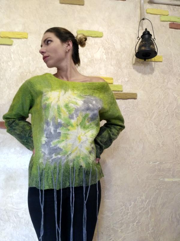 Свитшот свитер туника Ботан-одуван