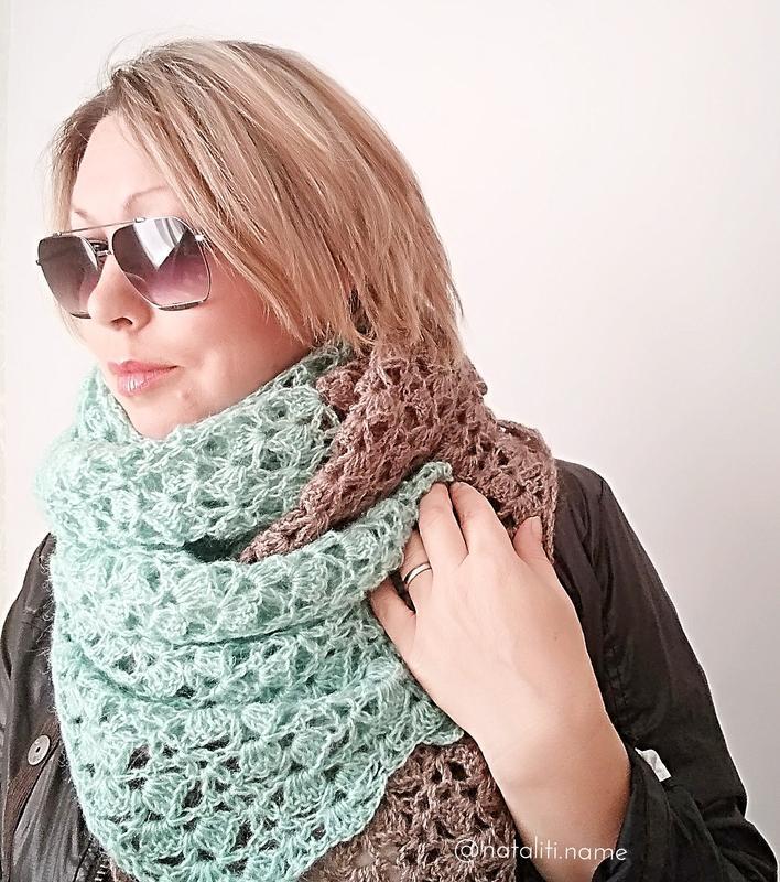 Вязаный шарф Slow