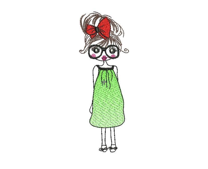 Дизайн машинной вышивки девочка. Машинна вишивка дівчинка
